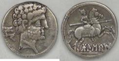Ancient Coins - SPAIN - Osca (aka Bolskan), The Celsitani, 204-154 BC, AR Drachm, Very Fine / Choice Very Fine
