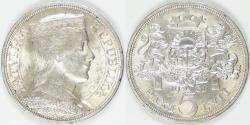 World Coins - LATVIA - 1st Republic, 1931, 5 Lati, BU