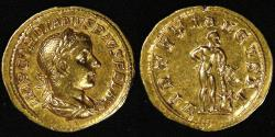 Ancient Coins - ROMAN EMPIRE, Gordian III (238-244 AD), 241-242 AD, Gold Aureus, graded Good Very Fine by ACCS