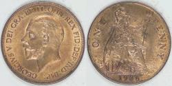 World Coins - GREAT BRITAIN, George V, 1936 Penny, Uncirculated