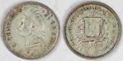 World Coins - DOMINICAN REPUBLIC, 1963, 10 Centavos, Extra Fine