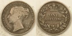 World Coins - GREAT BRITAIN, Victoria, 1862 Shilling, Fine