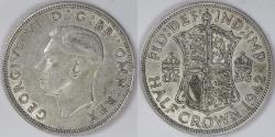 World Coins - GREAT BRITAIN, George VI, 1942 ½ Crown, Choice Extra Fine / AU