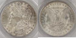 Us Coins - 1890 Morgan Dollar graded MS-62 by ANACS