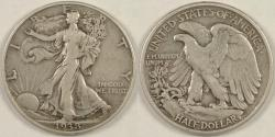 Us Coins - 1938-D Walking Liberty Half Dollar, VF-30