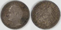 World Coins - GERMANY - Bavaria, Otto, 1895 D, 5 Mark, VF / Choice VF