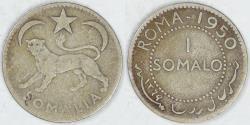World Coins - SOMALIA - U.N. Trusteeship under Italy, AH1369-1950, Somalo, Fine
