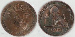 World Coins - BELGIUM - Kingdom, Leopold I, 1860, 2 Centimes, Very Fine