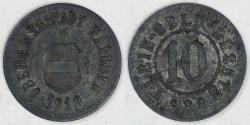 World Coins - GERMANY - Waldsee, Württemberg (Notgeld Coinage), 1918, 10 Pfennig, Extra Fine