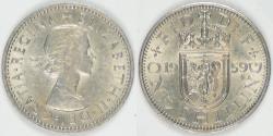 World Coins - GREAT BRITAIN, Elizabeth II, 1959 Shilling, Choice EF to AU