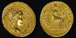 Ancient Coins - ROME IMPERIAL, Tiberius (14-37 AD), after 16 AD, Gold Aureus, graded Choice Extra Fine by NGC