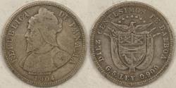 World Coins - PANAMA, 1904, 10 Centesimos, Choice Fine