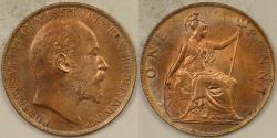 World Coins - GREAT BRITAIN, Edward VII, 1903 Penny, Gem BU