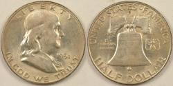 Us Coins - 1951-D Franklin Half Dollar, MS-63
