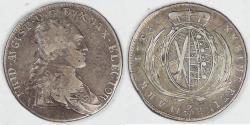 World Coins - GERMANY - Saxony-Albertine, Friedrich August III, 1795 IEC, 2/3 Thaler (Gulden), about VF / VF
