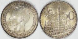 World Coins - BELGIUM, Baudouin I, 1958, 50 Francs, Choice BU