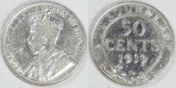 World Coins - CANADA - Newfoundland, George V, 1919 C, 50 Cents, Fine