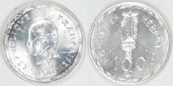 World Coins - NEW HEBRIDES - French/British Condominium, 1966 (a), 100 Francs, BU