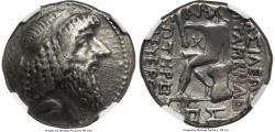 Ancient Coins - CHARACENE KINGDOM - Attambelos I (ca. 48/7-24 BC). BI tetradrachm (30mm, 15.57 gm, 1h).  NGC XF 3/5 5/5 - PERFECT NGC 5/5 SURFACES Dated SE 270 (43/2 BC)