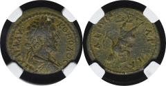 Ancient Coins - COMMODUS - THRACE. Anchialus.  AE23 (177-192). Ae. - NGC XF 4/5 3/5