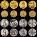World Coins - VICTORIA, 1887 SPECIMEN CURRENCY SET, GOLD FIVE POUNDS TO THREEPENCE