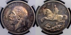World Coins - GEORGE V 1935 PROOF CROWN PF63