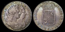World Coins - WILLIAM AND MARY 1689 HALFCROWN