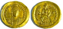 Theodosius II, AD 402-450 Gold Solidus, Mint of Constantinople - Roman imperial coin