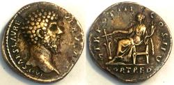 Ancient Coins - Lucius Verus Sestertius - Fortuna seated left - RIC 1346