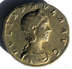 Ancient Coins - JULIA PAULA, AUGUSTA, 219-220 AD. AE SESTERTIUS, VERY RARE