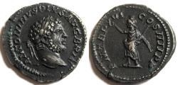 Ancient Coins - Caracalla AR Denarius Serapis  Rome 213 AD RIC 208a Roman imperial coin