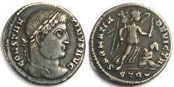 Ancient Coins - Constantine I AE3 - SARMATIA DEVICTA from Trier RIC 435