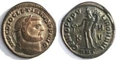 "Ancient Coins - Diocletian 300-301 AD AE Follis ""GENIO POPVLI ROMANI Genius"" Antioch RIC 54a"