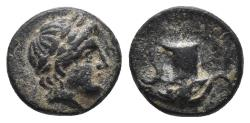 Ancient Coins - AEOLIS. Aigai. Ae (4th-3rd centuries BC). 1.1gr, 10.2mm