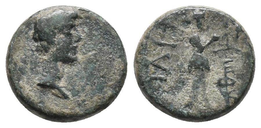 Ancient Coins - IONIA. Smyrna. Gaius (Caligula), 37-41 1.5gr, 11.8mm