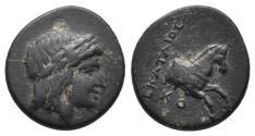 Ancient Coins - IONIA. Kolophon. Ae (Circa 330-285 BC). 1.9,14.3mm