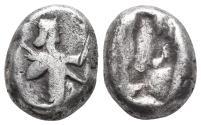 Ancient Coins - Achaemenid Empire. Sardeis. Time of Darius I to Xerxes I 505-480 BC. 5.4gr 15mm