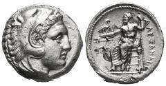 Ancient Coins - KINGS OF MACEDON. Alexander III 'the Great', 336-323 BC. AR Tetradrachm 17.1 g 24.6 mm