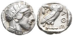 Ancient Coins - ATTICA, Athens. Circa 454-404 BC. AR Tetradrachm 17.22 g 23.1 mm