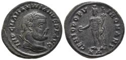 Ancient Coins - Maximianus, 286 - 305 AD AE Quarter Follis, Siscia Mint, 27,2mm, 9,67 grams