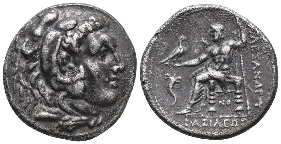 Ancient Coins - Kingdom of Macedon, Kassander AR Tetradrachm. 307-297 BC 16.8gr, 27.1mm