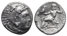 Ancient Coins - Kingdom of Macedon. Alexander III, The Great. drachm. 336-323 BC 3.9gr 17.6mm