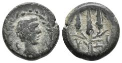 Ancient Coins - MYSIA. Kyzikos. Ae (2nd-1st centuries BC). 3.2gr, 15mm