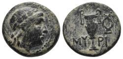 Ancient Coins - AEOLIS. Myrina. Ae (2nd-1st centuries BC). 4.46gr, 16mm