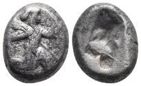 Ancient Coins - Achaemenid Empire. Sardeis. Time of Darius I to Xerxes I 505-480 BC.5.5gr 16.2mm