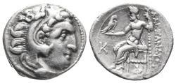 Ancient Coins - KINGS of MACEDON. Alexander III, 336-323 BC AR drachm 4.1gr 18.6mm