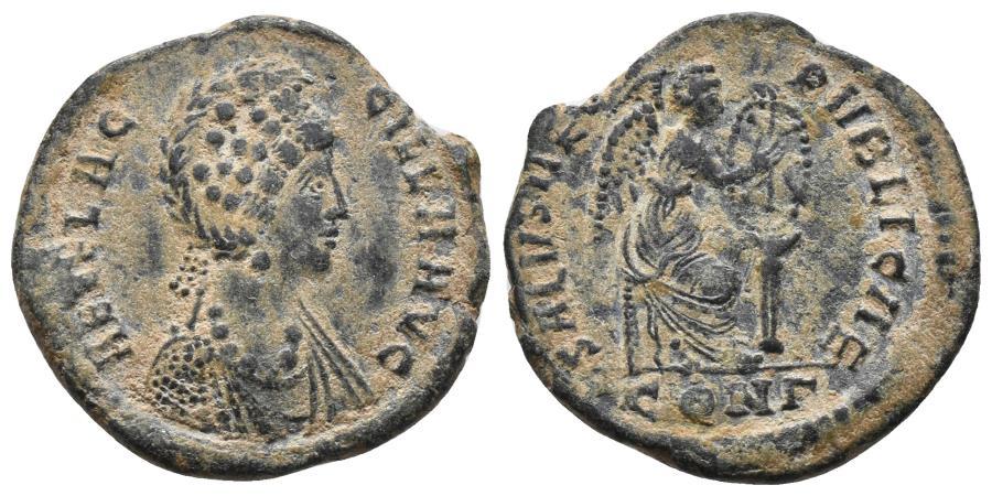 Ancient Coins - Aelia Flacilla. Maiorina. Constantinople. AD 383 Ae 4.4gr, 23.2mm