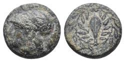 Ancient Coins - Elaia , Aeolis. AE c. mid 4th to mid 3rd Century BC. 1.5gr 8.9mm