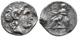 Ancient Coins - KINGS of THRACE, Macedonian. Lysimachos. 305-281 BC Tetradrachm 16.9gr, 26mm