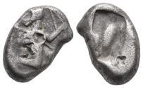 Ancient Coins - Achaemenid Empire. Sardeis. Time of Darius I to Xerxes I 505-480 BC. 5.4gr 17.1mm